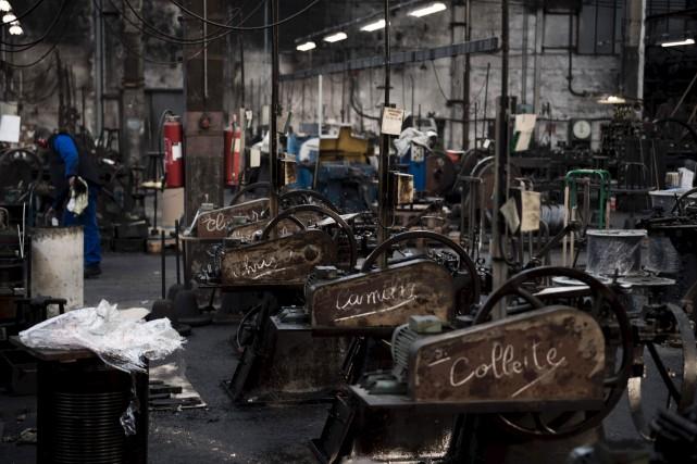 Les 325machines de la salle, toutes construites entre... (AFP, Martin Bureau)