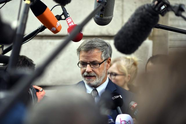 Eric Van der Sypt,porte-parole du parquetfédéral belge... (PHOTO ERIC LALMAND, archives AFP)