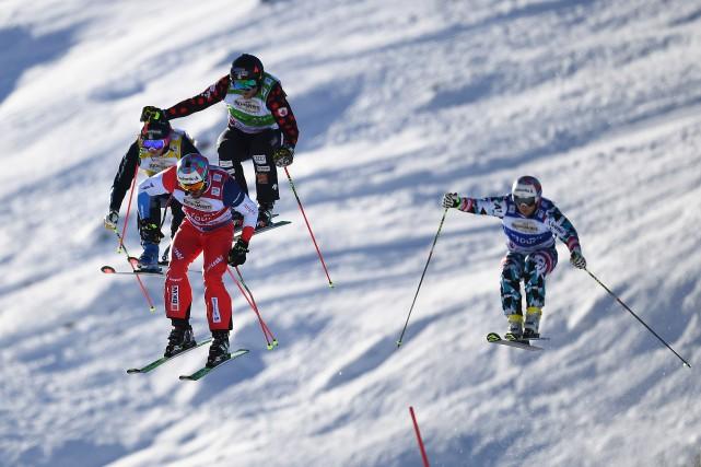 Alex Fiva, Viktor Andersson, Brady Leman et Christoph... (PHOTO FRANCK FIFE, AFP)