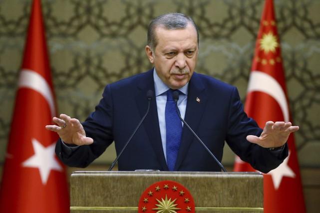 Turkey's President Recep Tayyip Erdogan addresses local administrators... (PHOTO Kayhan Ozer, ARCHIVES AP/PRÉSIDENCE TURQUE)