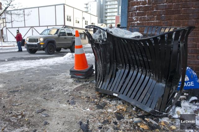 L'accident est survenu à l'angle des rues Eddy... (PHOTO MARTIN ROY Le Droit)