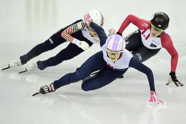 La Coréenne Choi Min Jeong (à gauche) a... (Photo AFP)