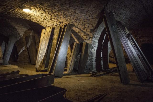 La crypt où la momie a été retrouvée.... (THE CANADIAN PRESS)