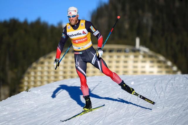 Martin Johnsrud Sundby a remporté l'épreuve du 30... (AFP, FABRICE COFFRINI)