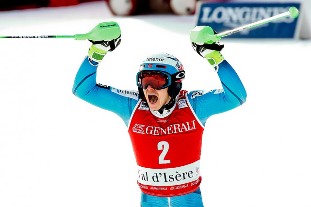 Henrik Kristoffersen... (Photo Giovanni Auletta, AP)
