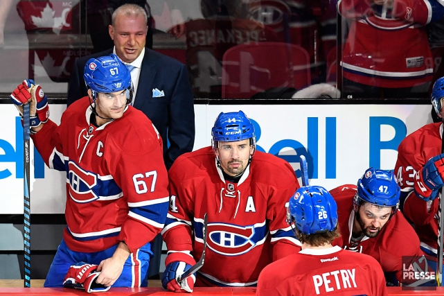 L'entraîneur Michel Therrien, le capitaine Max Pacioretty et... (PHOTO BERNARD BRAULT, LA PRESSE)
