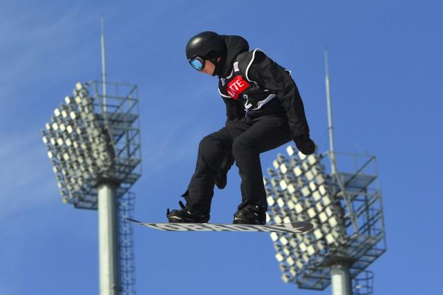 Le Bromontois MaxenceParrot a pris la deuxième place... (AFP)