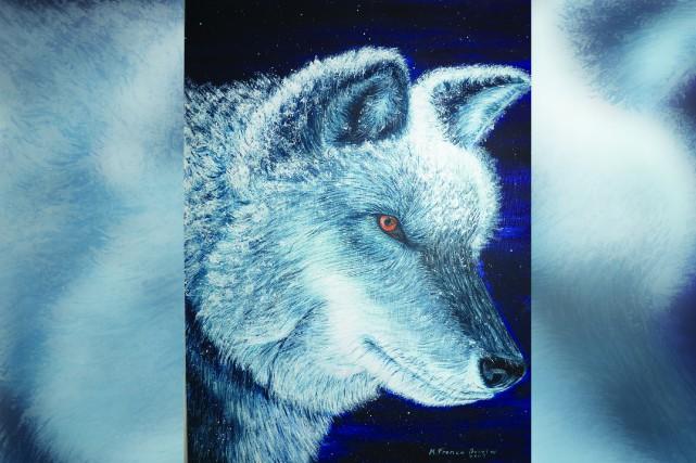 IntituléeLe loup, cette oeuvre réalisée par Marie-France Boivin... (Photo courtoisie)