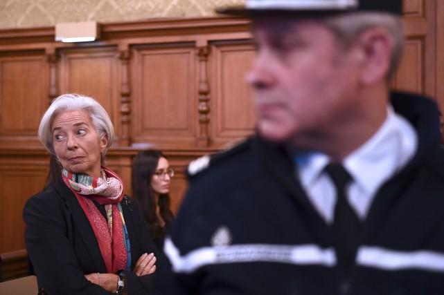 L'ancienne ministre est entrée peu avant 14h00 (8h00... (AFP)