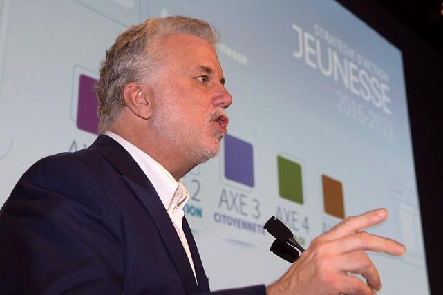 Philippe Couillard a déclaré que les jeunes ont... (Photo Jacques Boissinot, PC)