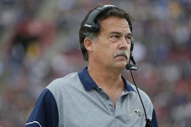 Jeff Fisher était l'entraîneur-chef des Ramsdepuis 2012.... (Photo Jeff Gross, AFP)