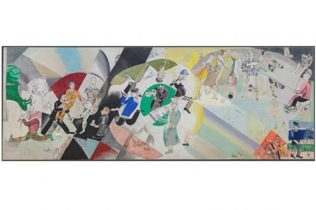 Introduction au Théâtre d'art juif, 1920, Marc Chagall... (Photo fournie par le MBAM)