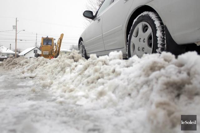 Les conditions routières difficiles par endroits ont provoqué... (Photothèque Le Soleil)