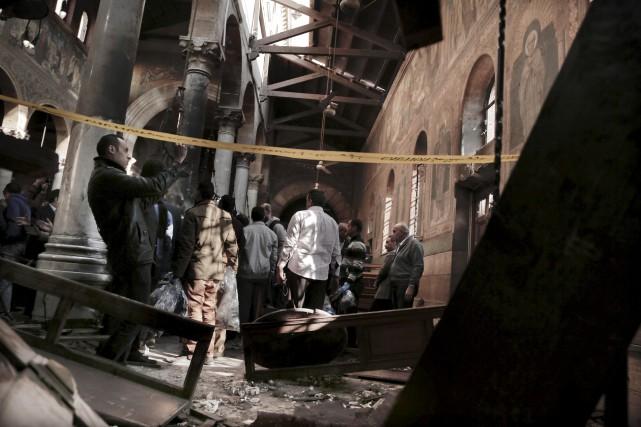 Les Frères musulmans ont nié toute implication dans... (AP, Nariman El-Mofty)