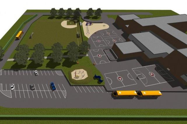Voici le plan du projet de cour d'école... (Courtoisie Fondation Val Marie)