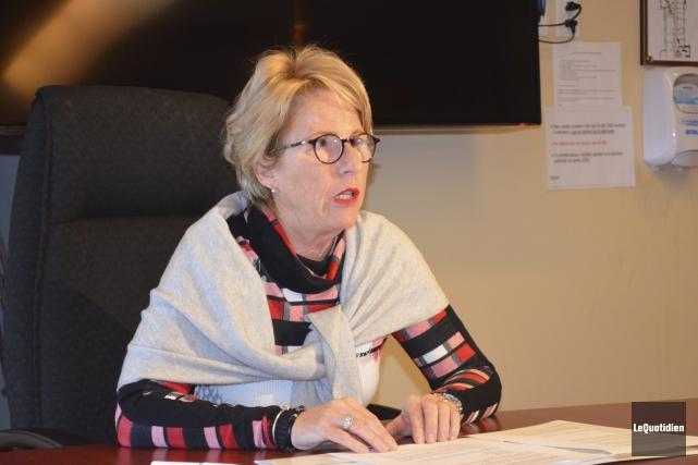 Madeleine Leclerc est présidente de la Fondation du... (Photo Le Quotidien, Louis Potvin)