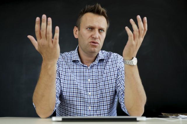 Alexeï Navalny a annoncé mardi qu'il briguera la... (AP, Pavel Golovkin)