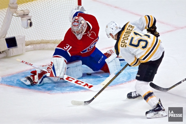 Ryan Spooner a déjoué Carey Price en prolongation... (Photo André Pichette, La Presse)