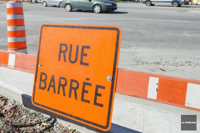 Les chantiers routiers pourraient être encore plus nombreux à Sherbrooke en... (Archives La Tribune, Maxime Picard)