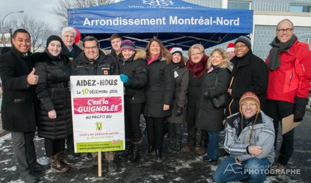 De gauche à droite : Dominique DeBrosse, Makka... (Photo fournie par le Centre de pédiatrie sociale de Montréal-Nord)