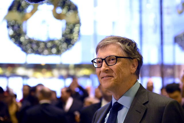 Bill Gates a rencontré Donald Trump à la Trump... (Photo Timothy A. Clary, AFP)