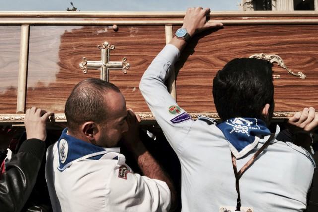 Le kamikaze a commis l'attentat à l'aide d'une... (PHOTO AP)