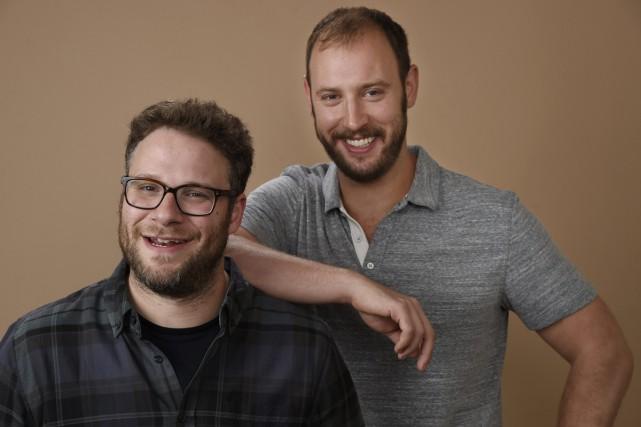 Seth Rogen et Evan Goldberg, coscénaristes et coproducteurs... (PHOTO ARCHIVES AP)