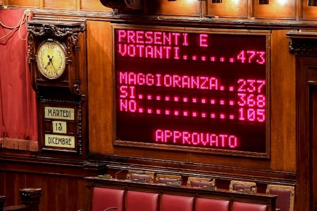 Les députés italiens ont accordé leurconfiance au nouveau... (AP, Alessandro Di Meo)