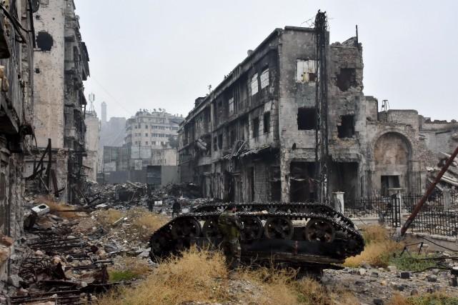 L'accord de cessez-le-feu annoncé mardi survient après que... (AFP, George Ourfalian)