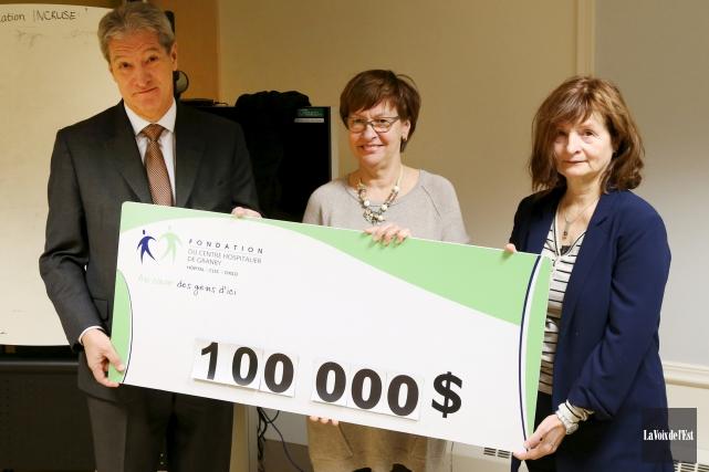 La présidente de la Fondation du CHG, Pierrette... (Janick Marois, La Voix de l'Est)