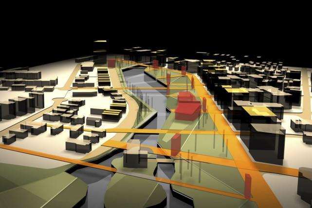 Plans de l'Espace Dallaire sur les berges du... (Courtoisie)