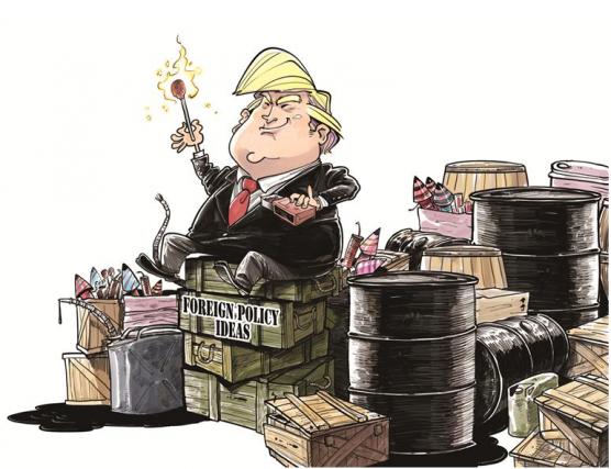 De nombreux observateurs --y compris le caricaturiste du... (Source : site internet du quotidien China Daily)