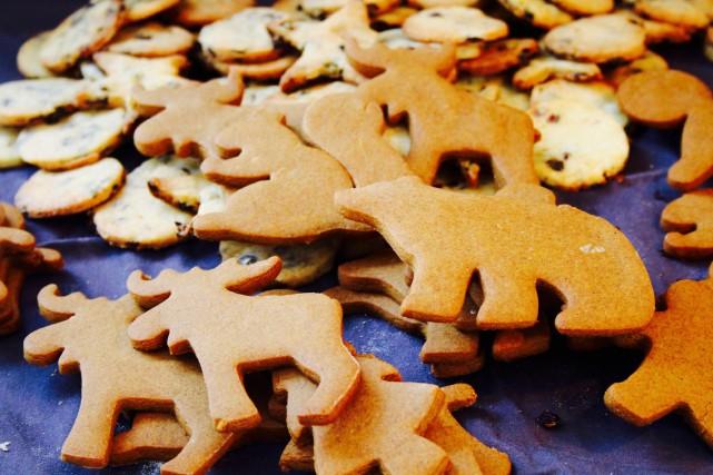 Faire des biscuits de Noël à l'emporte-pièce avec les enfants, par un beau... (Mélissa Bradette)