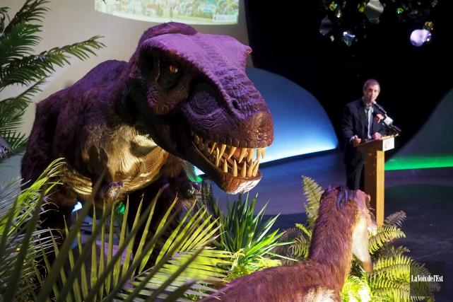 Les dinosaures, qui avaient fait l'objet d'une exposition... (Alain Dion, La Voix de l'Est)