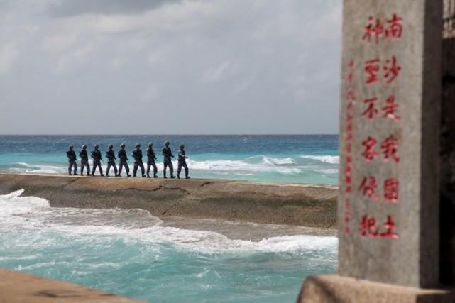 Pékin a fait construire des îlots artificiels enmer... (PHOTO REUTERS)