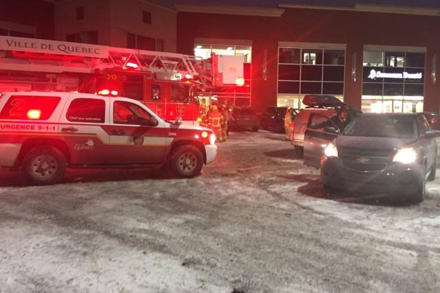 Les pompiers de Québec ont dû intervenir à... (tirée de Twitter, SPCIQ)