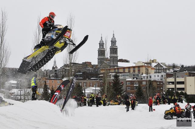 Les organisateurs du SnowCross Saguenay seront de retour... (Archives Le Quotidien, Rocket Lavoie)