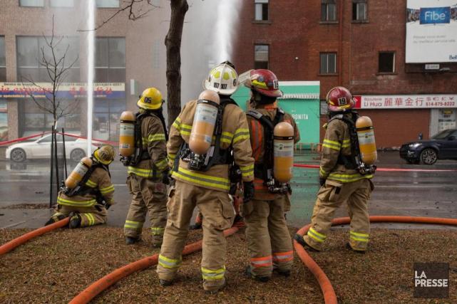 En 2015, le Service de sécurité incendie de... (ARCHIVES LA PRESSE)