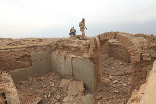 Une archéologue estime qu'environ 60% du site équivaut... (PHOTO REUTERS)