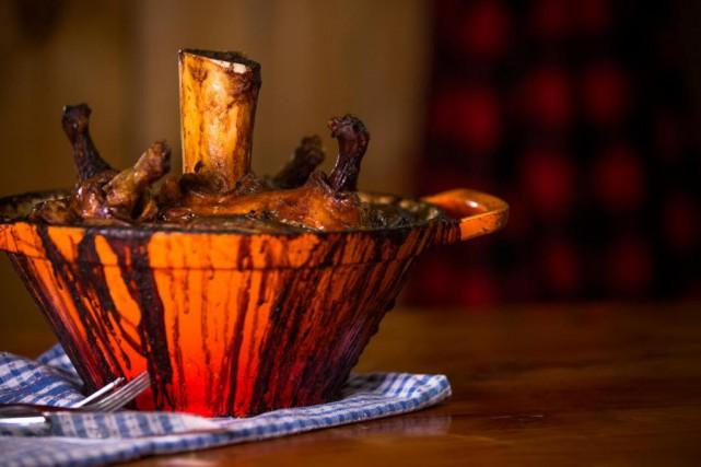 Le cipaille du chef de cuisine de la... (PHOTO OLIVIER PONTBRIAND, LA PRESSE)