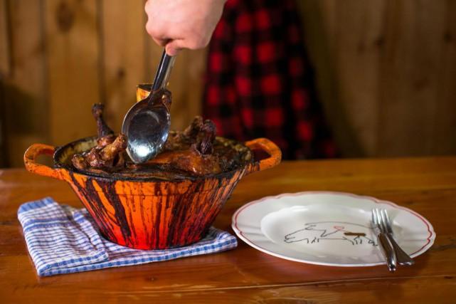 Le cipaille orne les tables depuis les premiers... (Photo Olivier PontBriand, La Presse)