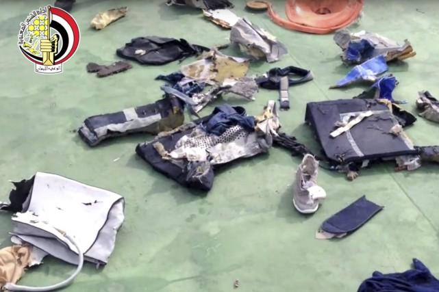 Le volMS804 s'était abîmé en mer Méditerranée entre... (image archives forces armées égyptiennes/AP)