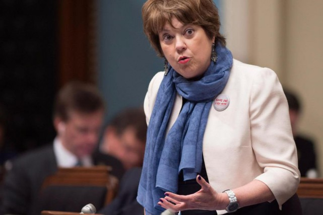 La ministre de l'Enseignement supérieur, Hélène David... (Archives La Presse Canadienne, Jacques Boissinot)