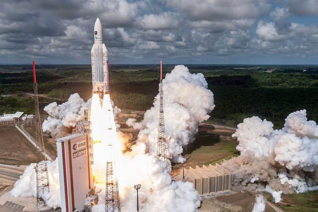 Une fusée a été lancée en novembre dernier... (Photo ESA, CNES via AFP)
