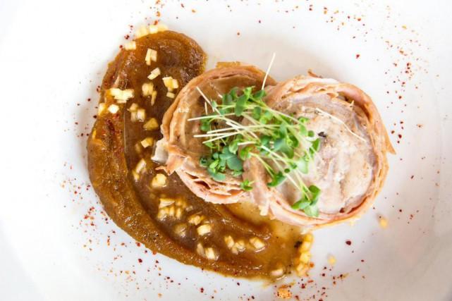 Râble de lapin farci sur une purée de... (Photo fournie par le restaurant Pinxto)
