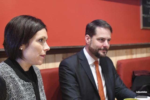 La députée néo-démocrate de Jonquière aux Communes, Karine... (Photo Le Quotidien, Michel Tremblay)