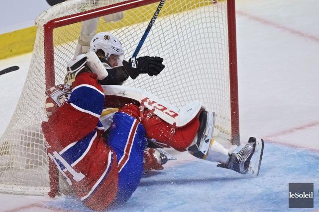L'attaquant des Bruins David Pastrnak a foncé sur... (Photothèque Le Soleil)