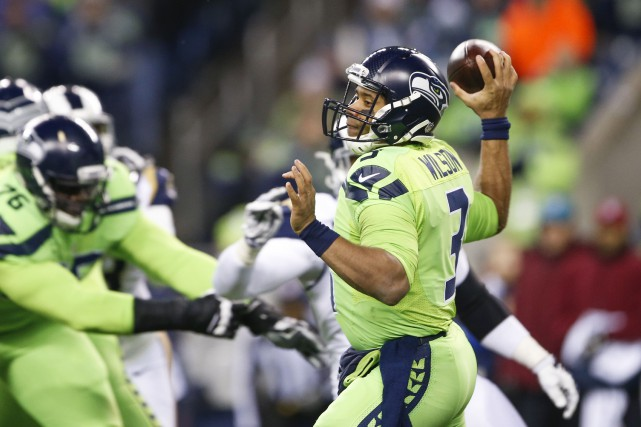 Russell Wilson... (PHOTO Joe Nicholson, USA Today Sports)