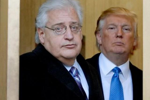 David Friedman (à gauche) et le président désigné... (photo archives getty)