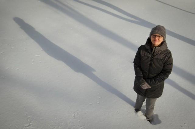 L'artiste visuelle Lyne Bastien est descendue du nord... (Photo Ivanoh Demers, La Presse)